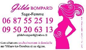 Gilda BOMPARD, Sage Femme à domicile sur Villars les Dombes, Saint André de Corcy, Saint-Marcel en Dombes, Mionnay, Chalamont, Meximieux Villars les Dombes